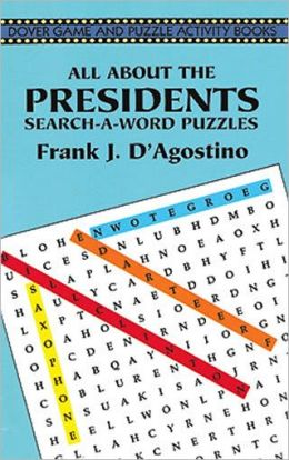 All about Presidents Search-a-Word Puzzles
