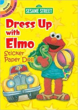 Sesame Street Classic Dress Up with Elmo Sticker Paper Doll