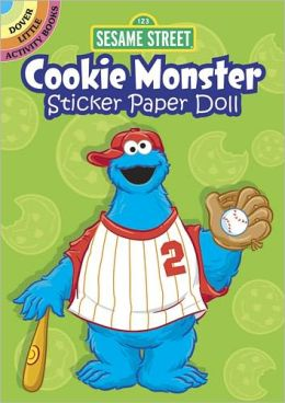 Sesame Street Cookie Monster Sticker Paper Doll