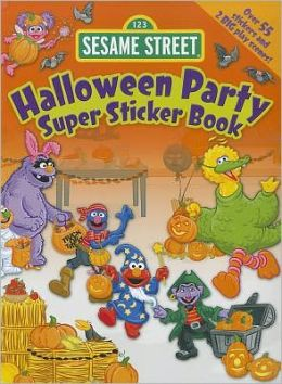 Sesame Street Halloween Party Super Sticker Book