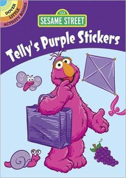 Sesame Street Telly's Purple Stickers