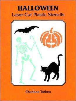 Halloween Laser-Cut Plastic Stencils