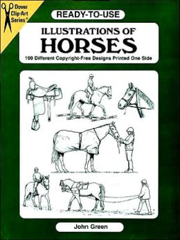Ready-to-Use Illustrations of Horses: 150 Different Copyright-Free Designs
