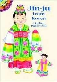Jin-Ju from Korea Sticker Paper Doll