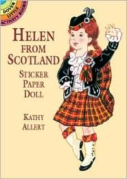 Helen from Scotland Sticker Paper Doll Kathy Allert