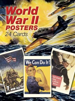 World War II Posters: 24 Full-Color Cards