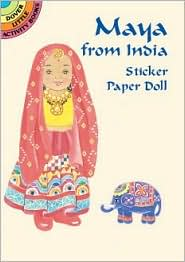 Maya from India Sticker Paper Doll