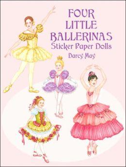 Four Little Ballerinas Sticker Paper Dolls