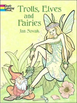 Trolls, Elves and Fairies Coloring Book