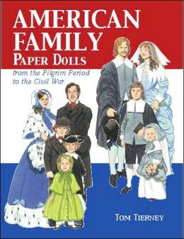 American Family Paper Dolls