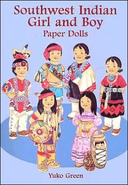 Southwest Indian Girl and Boy Paper Dolls