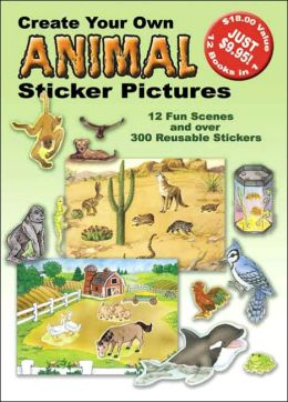Create Your Own Animal Sticker Pictures 12 Scenes And