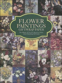 Flower Paintings Giftwrap Paper: Two Sheets 18