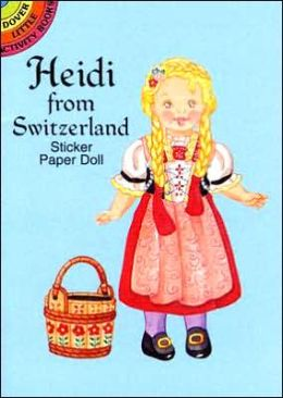 Heidi from Switzerland Sticker Paper Doll