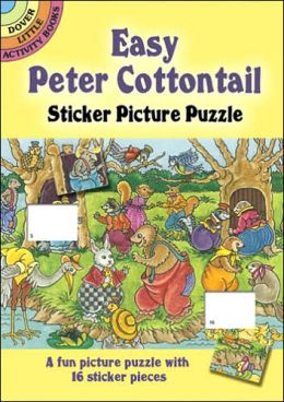 Easy Peter Cottontail Sticker Picture Puzzle