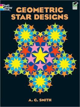 Geometric Star Designs Coloring Book