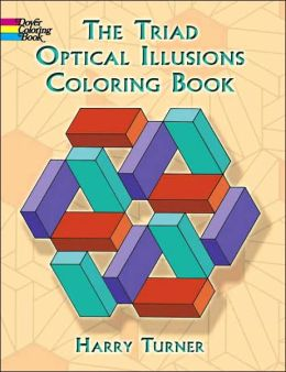 The Triad Optical Illusions Coloring Book