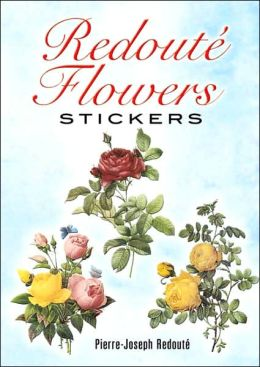 Redoute Flowers Stickers: 36 Stickers, 9 Different Designs
