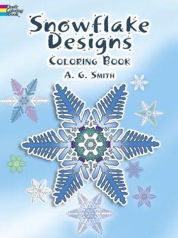 Snowflake Designs Coloring Book (Dover Coloring Book Series)