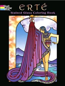 Erte Stained Glass Coloring Book (Dover Coloring Book Series)