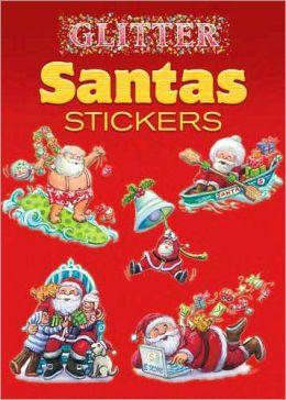 Glitter Santas Stickers