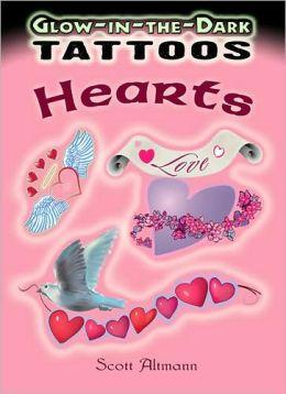 Glow-in-the-Dark Tattoos Hearts