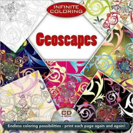 Infinite Coloring Geoscapes Book & CD