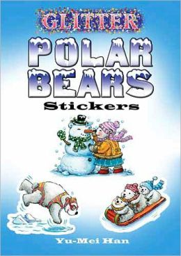 Glitter Polar Bears Stickers