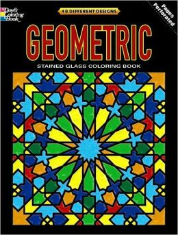 Geometric Stained Glass Coloring Book: Deluxe Edition with 48 Stained Glass Sheets