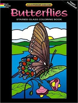 Butterflies Stained Glass Coloring Book: Deluxe Edition with 48 Stained Glass Sheets
