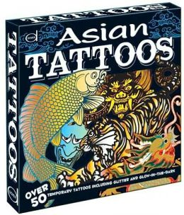 Asian Tattoos: Over 50 Temporary Tattoos including Glitter and Glow-in-the-Dark