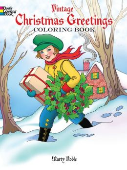 Vintage Christmas Greetings Coloring Book