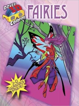 3-D Coloring Book--Fairies