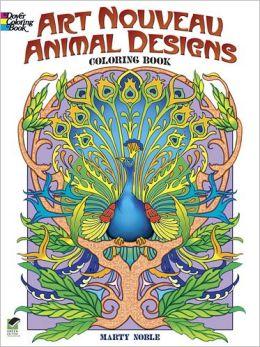 Art Nouveau Animal Designs Coloring Book
