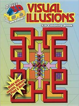 3-D Coloring Book: Visual Illusions