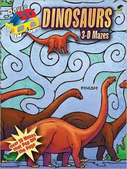3-D Mazes--Dinosaurs