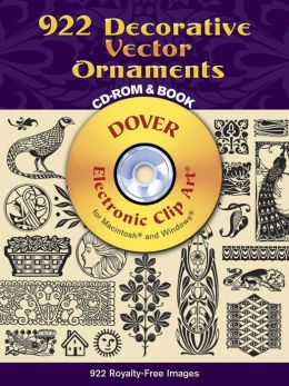 922 Decorative Vector Ornaments CD-ROM and Book