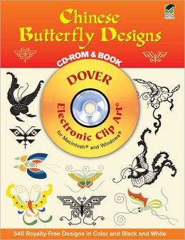 Chinese Butterfly Designs: CD-ROM and Book