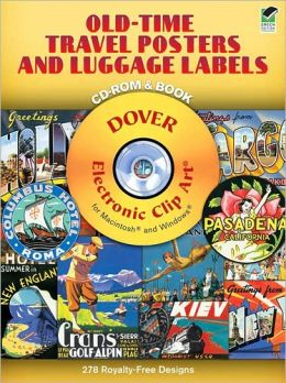 Old-Time Travel Posters and Luggage Labels with CD-ROM