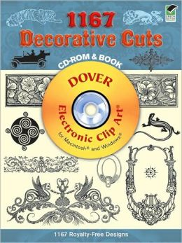 1167 Decorative Cuts CD-ROM and Book