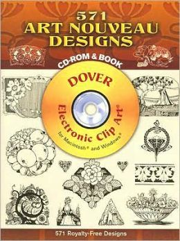 571 Art Nouveau Designs [Dover Electronic Clip Art Series]