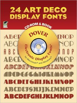 24 Art Deco Display Fonts CD-ROM and Book