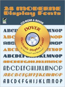 24 Moderne Display Fonts