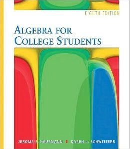 Algebra for College Students (with Interactive Video Skillbuilder CD-ROM and iLrn? Student Tutorial Printed Access Card)