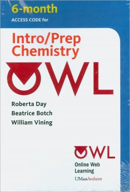 OWL (6 months) Printed Access Card for Introductory/Preparatory Chemistry