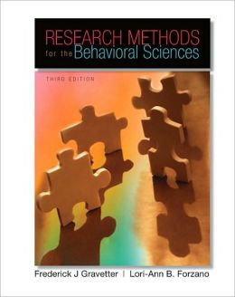 Research Methods for the Behavioral Sciences, 3rd Edition