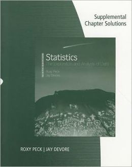 Supplemental Chapter Solutions for Peck/Olsen/Devore's Introduction to Statistics and Data Analysis, 3rd