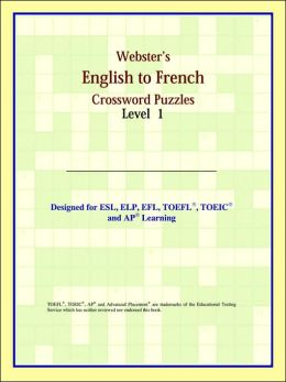 Webster's English To French Crossword Puzzles: Level 1
