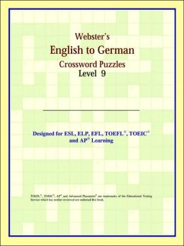 Webster's English to German Crossword Puzzles: Level 9