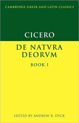 Cicero: De Natura Deorum Book I